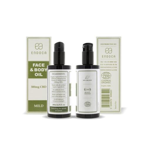 CBD Face and Body Oil fra organiske abrikoskerner og hamp ekstrakter